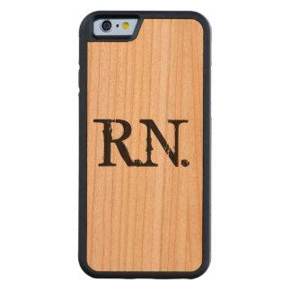 Coque Pare-chocs En Cerisier iPhone 6 Cas en bois de téléphone de l'infirmière R.N.