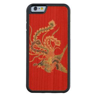 Coque Pare-chocs En Cerisier iPhone 6 Chinois Phoenix - oiseaux mythologiques de