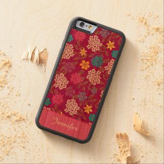 Coque Pare-chocs En Cerisier iPhone 6 Fleurs sauvages Girly de ressort et d'été, nom