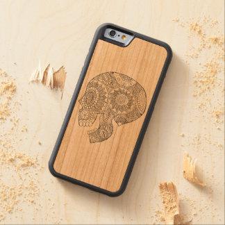 Coque Pare-chocs En Cerisier iPhone 6 Jour mexicain de Calavera du crâne mort de sucre