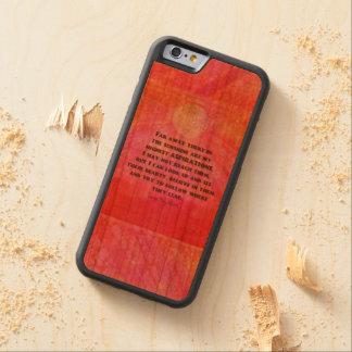 Coque Pare-chocs En Cerisier iPhone 6 La citation Louisa d'aspirations peut Alcott