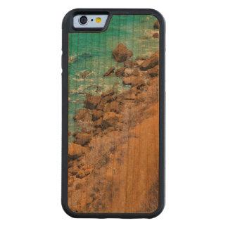 Coque Pare-chocs En Cerisier iPhone 6 Littoral Puerto Lopez de l'océan pacifique de vue