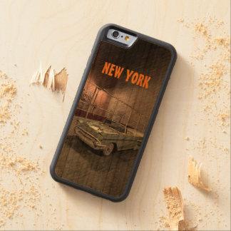 Coque Pare-chocs En Cerisier iPhone 6 Terrain de basket-ball dans une rue de New York