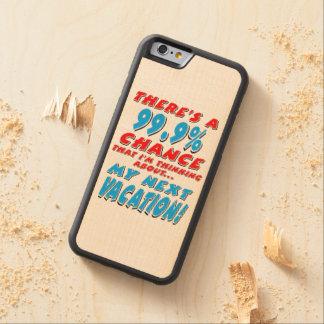 Coque Pare-chocs En Érable iPhone 6 99,9% Les VACANCES PROCHAINES (noir)