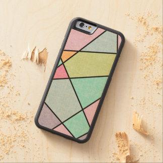 Coque Pare-chocs En Érable iPhone 6 Abrégé sur givré pastel géométrique par