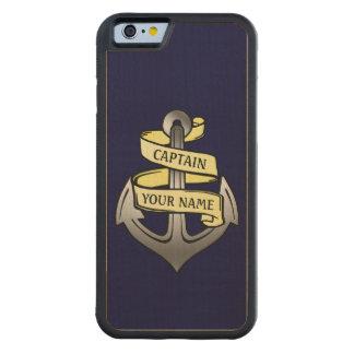 Coque Pare-chocs En Érable iPhone 6 Capitaine de bateau personnalisable votre ancre