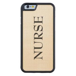 Coque Pare-chocs En Érable iPhone 6 Cas en bois de téléphone d'infirmière