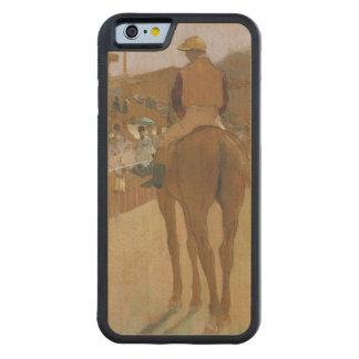 Coque Pare-chocs En Érable iPhone 6 Chevaux de course d'Edgar Degas | devant les