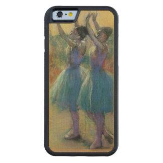 Coque Pare-chocs En Érable iPhone 6 Edgar Degas | deux danseurs bleus