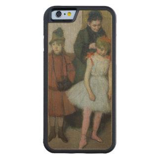 Coque Pare-chocs En Érable iPhone 6 Femme d'Edgar Degas | avec deux petites filles