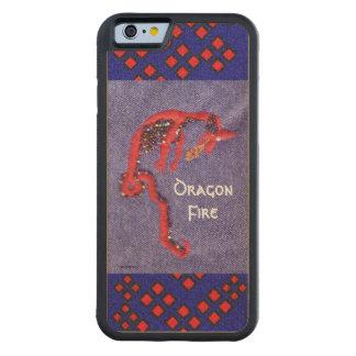 Coque Pare-chocs En Érable iPhone 6 Imaginaire rouge de mythe de dragon