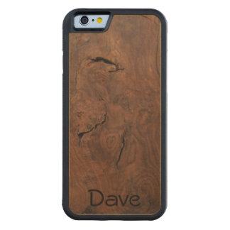 Coque Pare-chocs En Érable iPhone 6 La noix sur l'érable a découpé le cas en bois de