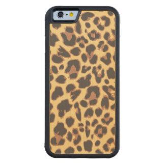 Coque Pare-chocs En Érable iPhone 6 Motifs de peau d'animal d'empreinte de léopard