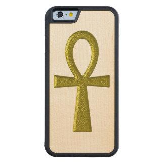 Coque Pare-chocs En Érable iPhone 6 Or de fantaisie Ankh