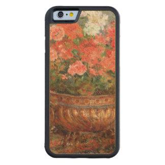 Coque Pare-chocs En Érable iPhone 6 Pierre géraniums de Renoir un   dans un bassin de