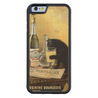 """Coque Pare-chocs En Érable iPhone 6 Rétro affiche française """"bourgeois d'absinthe """""""