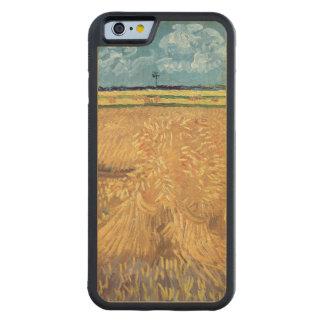 Coque Pare-chocs En Érable iPhone 6 Wheatfield de Vincent van Gogh | avec des gerbes,