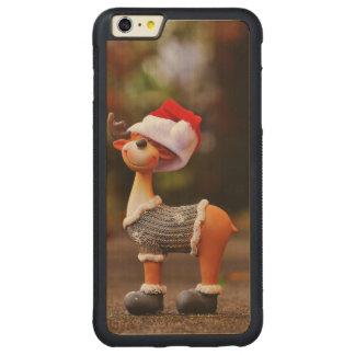 Coque Pare-chocs Mince En Érable iPhone 6 Plus Décorations de renne - renne de Noël