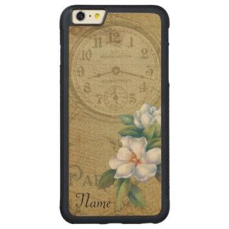 Coque Pare-chocs Mince En Érable iPhone 6 Plus Fleurs vintages de magnolia