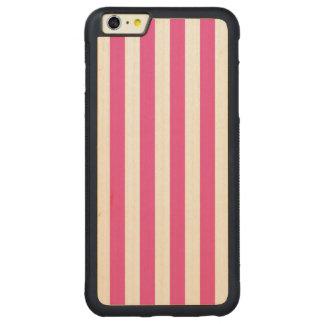 Coque Pare-chocs Mince En Érable iPhone 6 Plus Rayures verticales roses
