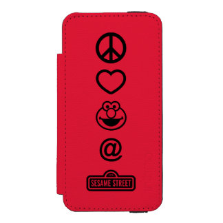 Coque-portefeuille iPhone 5 Incipio Watson™ Amour Elmo de paix