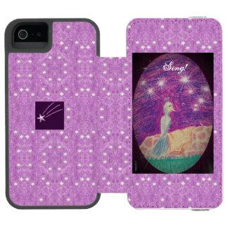 Coque-portefeuille iPhone 5 Incipio Watson™ Arrière - plan étoilé de rossignol lyrique