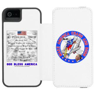 COQUE-PORTEFEUILLE iPhone 5 INCIPIO WATSON™ C.A. ET B DE M. - UN DIEU BÉNISSENT L'AMÉRIQUE