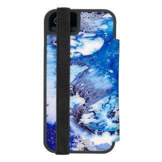 Coque-portefeuille iPhone 5 Incipio Watson™ Cellule d'abrégé sur bleu de méthylène