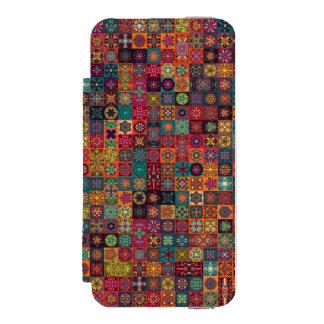 Coque-portefeuille iPhone 5 Incipio Watson™ Conception abstraite colorée de motif de tuile