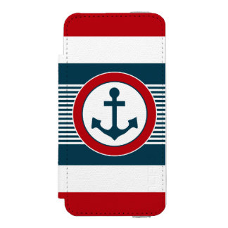 Coque-portefeuille iPhone 5 Incipio Watson™ Conception nautique