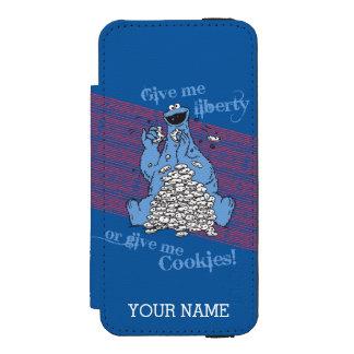 Coque-portefeuille iPhone 5 Incipio Watson™ Donnez-moi la liberté ou donnez-moi les biscuits
