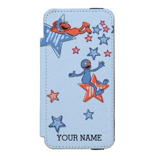 Coque-portefeuille iPhone 5 Incipio Watson™ Elmo et Grover parmi les étoiles | ajoutent votre