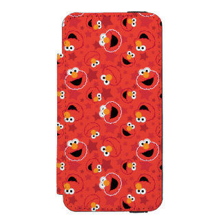 Coque-portefeuille iPhone 5 Incipio Watson™ Elmo rouge fait face au motif