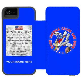 Coque-portefeuille iPhone 5 Incipio Watson™ Faites l'Amérique se briser et brûler