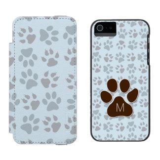 Coque-portefeuille iPhone 5 Incipio Watson™ Initiale décorée d'un monogramme et empreintes de