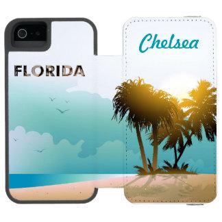 Coque-portefeuille iPhone 5 Incipio Watson™ La Floride
