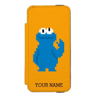 Coque-portefeuille iPhone 5 Incipio Watson™ L'art | de pixel de monstre de biscuit ajoutent