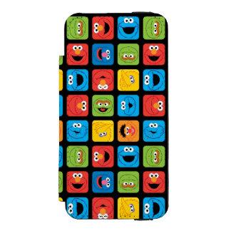 Coque-portefeuille iPhone 5 Incipio Watson™ Le Sesame Street a cubé le motif de visages