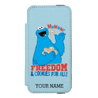 Coque-portefeuille iPhone 5 Incipio Watson™ Liberté et biscuits pour tous ! | ajoutent votre