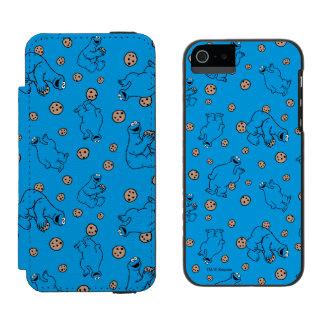 Coque-portefeuille iPhone 5 Incipio Watson™ Monstre de biscuit et motif bleu de biscuits