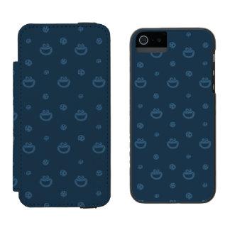 Coque-portefeuille iPhone 5 Incipio Watson™ Motif bleu de monstre de biscuit et de marine de