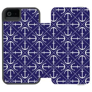 Coque-portefeuille iPhone 5 Incipio Watson™ Motif d'ancre