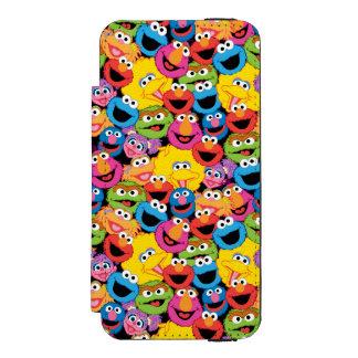 Coque-portefeuille iPhone 5 Incipio Watson™ Motif de visages de caractère de Sesame Street