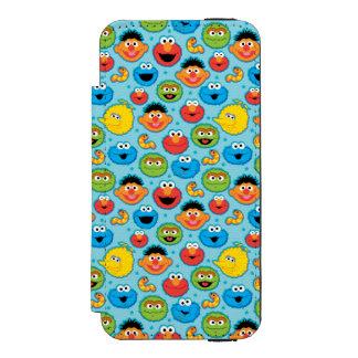 Coque-portefeuille iPhone 5 Incipio Watson™ Motif de visages de Sesame Street sur le bleu