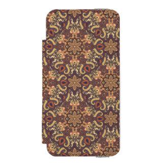 Coque-portefeuille iPhone 5 Incipio Watson™ Motif floral ethnique abstrait coloré De de