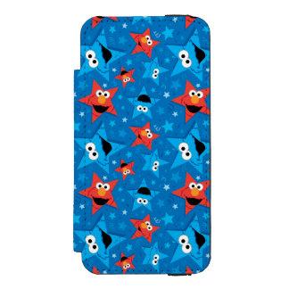 Coque-portefeuille iPhone 5 Incipio Watson™ Motif patriotique d'Elmo et de monstre de biscuit