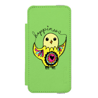 Coque-portefeuille iPhone 5 Incipio Watson™ Oiseau de bonheur