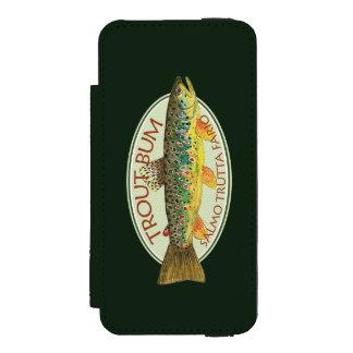 Coque-portefeuille iPhone 5 Incipio Watson™ Pêcheur à la ligne drôle de truite de Brown