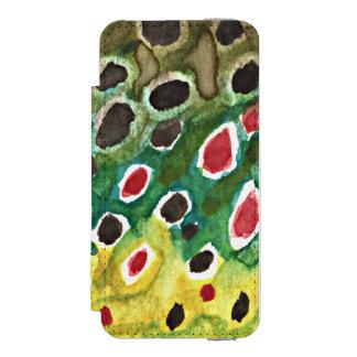 Coque-portefeuille iPhone 5 Incipio Watson™ Pêcheur de mouche de truite de Brown