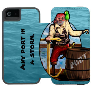 Coque-portefeuille iPhone 5 Incipio Watson™ PIRATE, PORT, TEMPÊTE par Slipperywindow